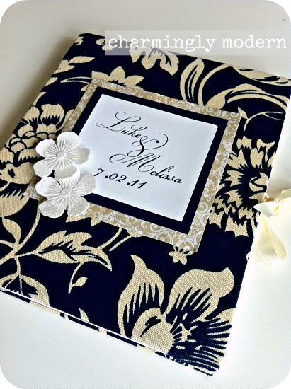 seasons change boutique handmade guest book