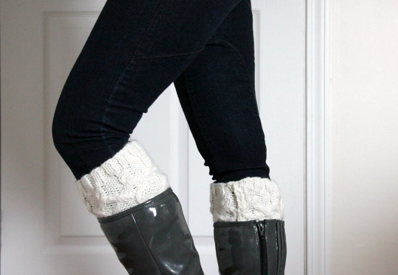 cabled knit boot cuffs