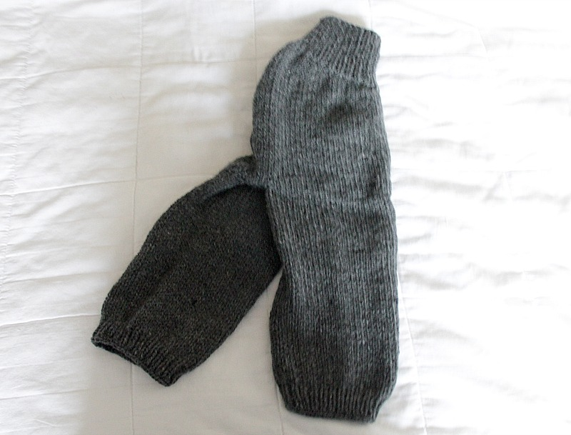 knit wool longies