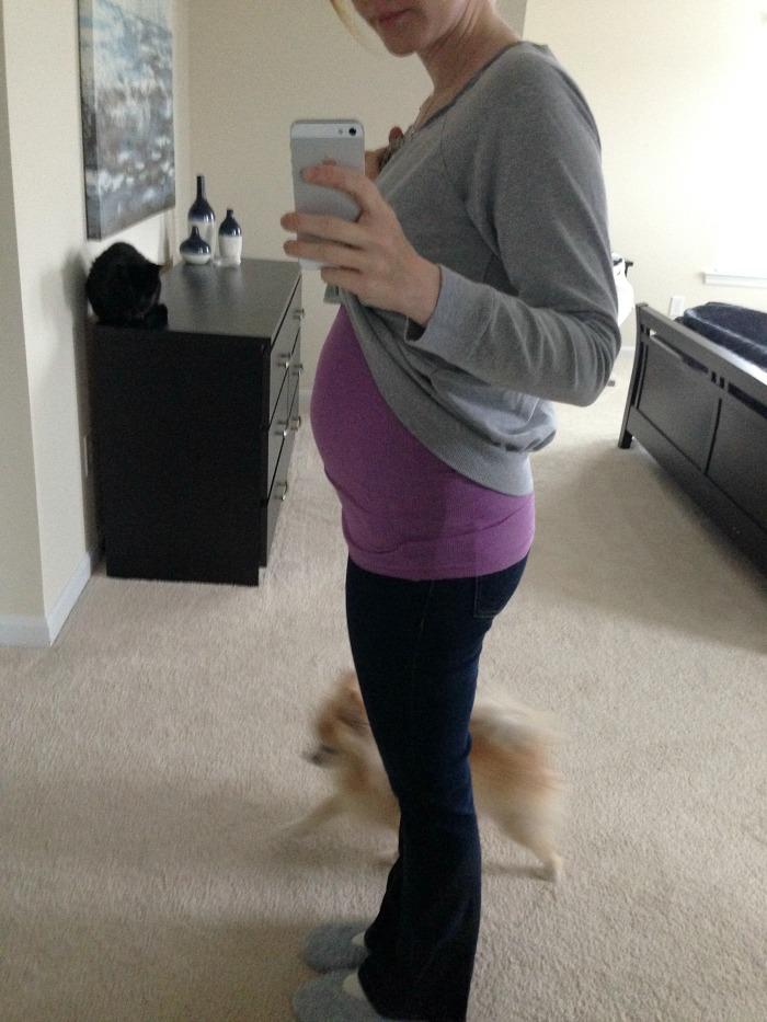 18 week baby bump