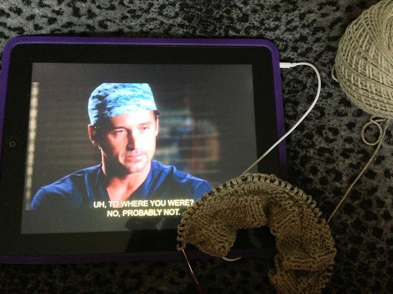 grey's anatomy and knitting