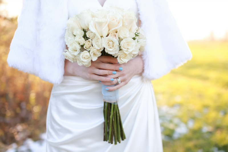 wedding bridal white bouquet