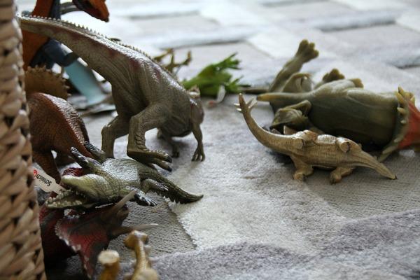 dinosaurs on rug