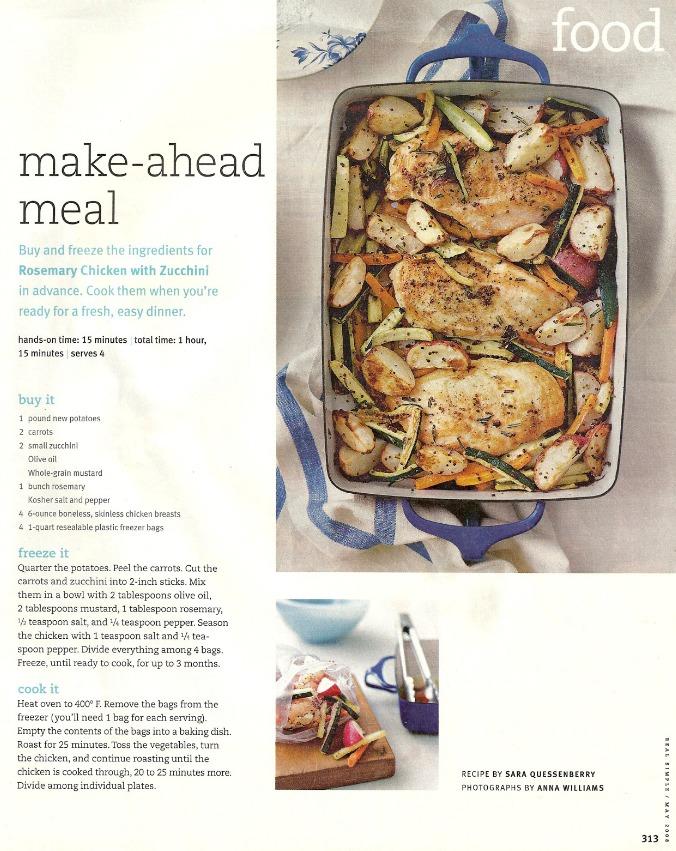 rosemary chicken with zucchini recipe
