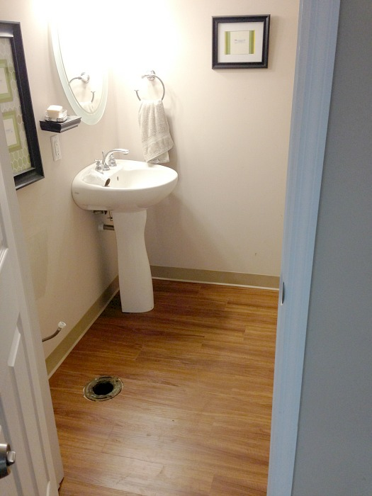 basement bathroom vinyl floor