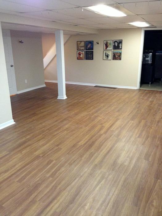 basement vinyl floor