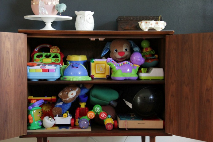 kid friendly living room storage