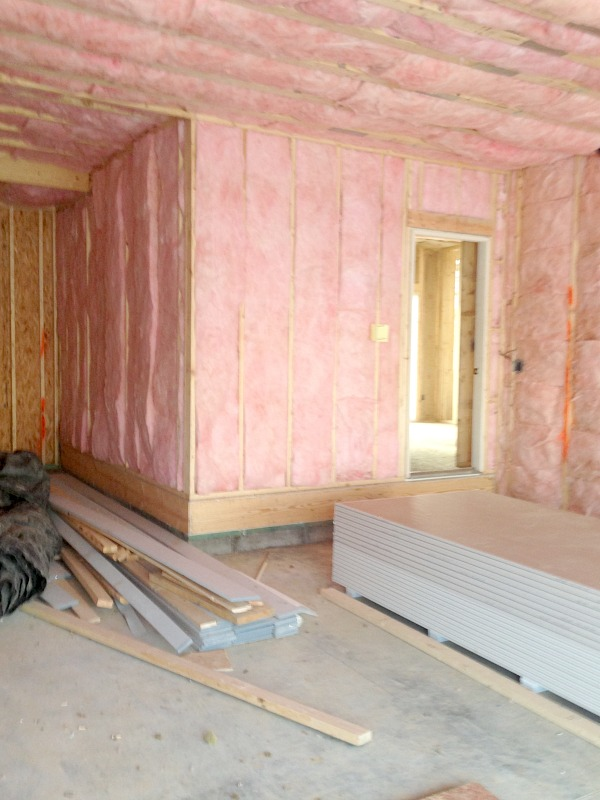 Insulating Garage Walls : Drees homes house progress early february charmingly modern