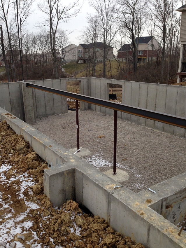 construction lot foundation