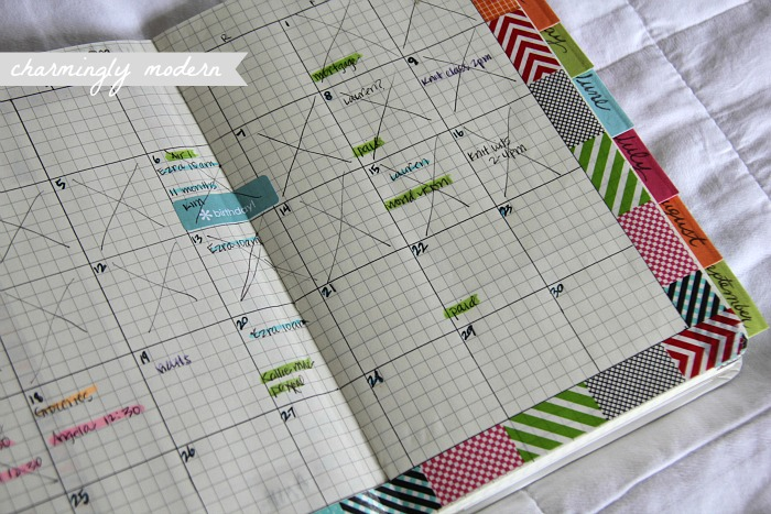 monthly page moleskine planner