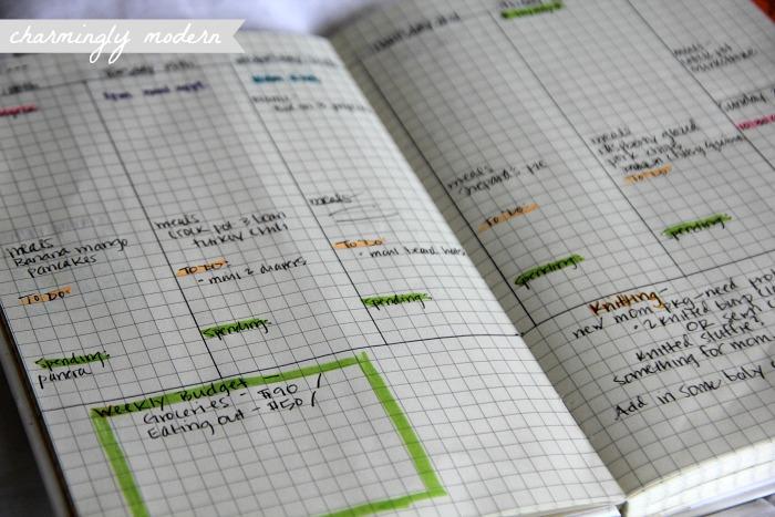 weekly view moleskine planner