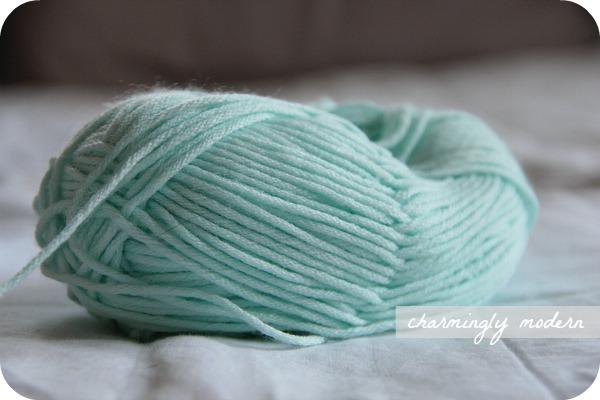 comfort mint teal yarn
