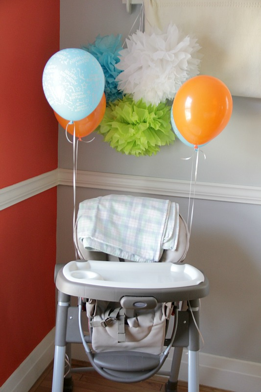 high chair 1st birthday party