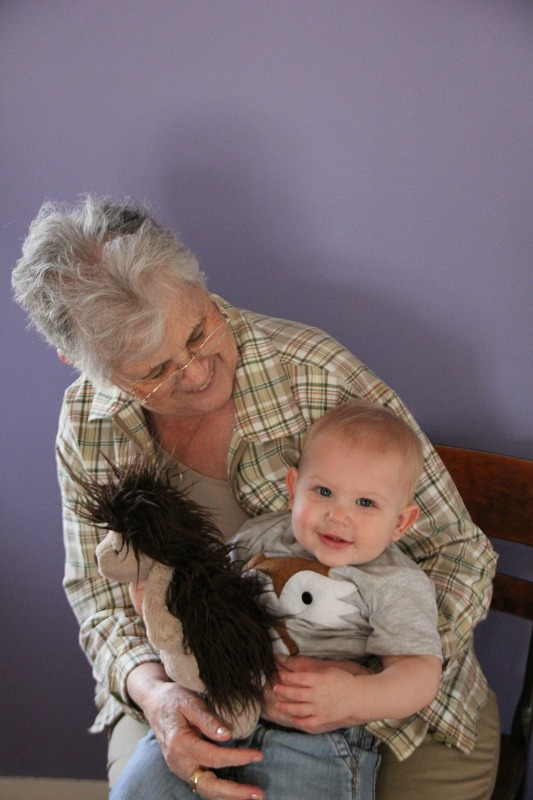 Ezra and great-grandma