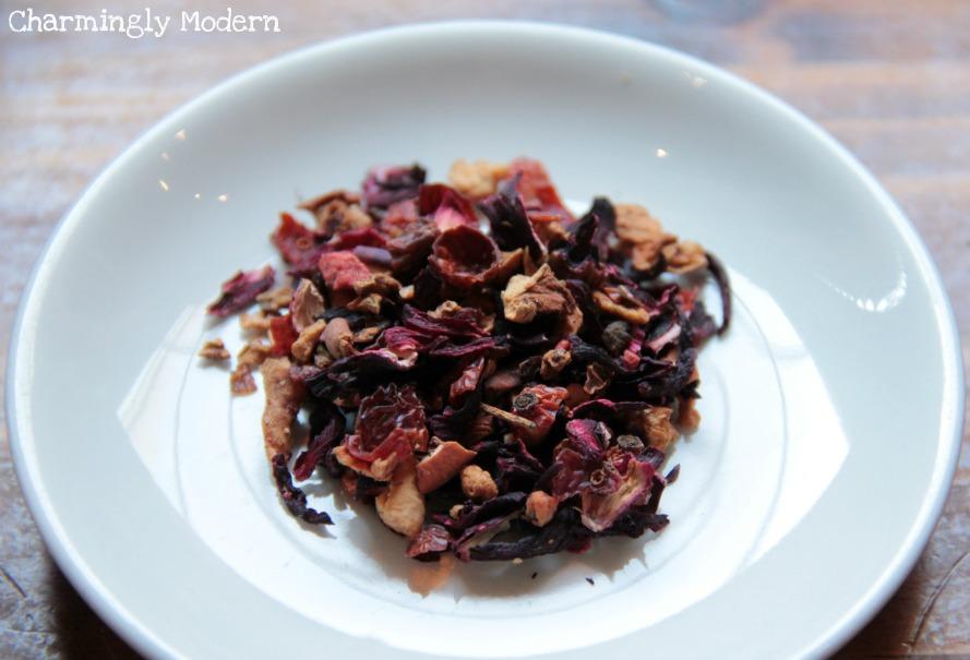 herbal tea leaves