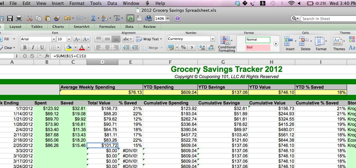 grocery spending february 2012