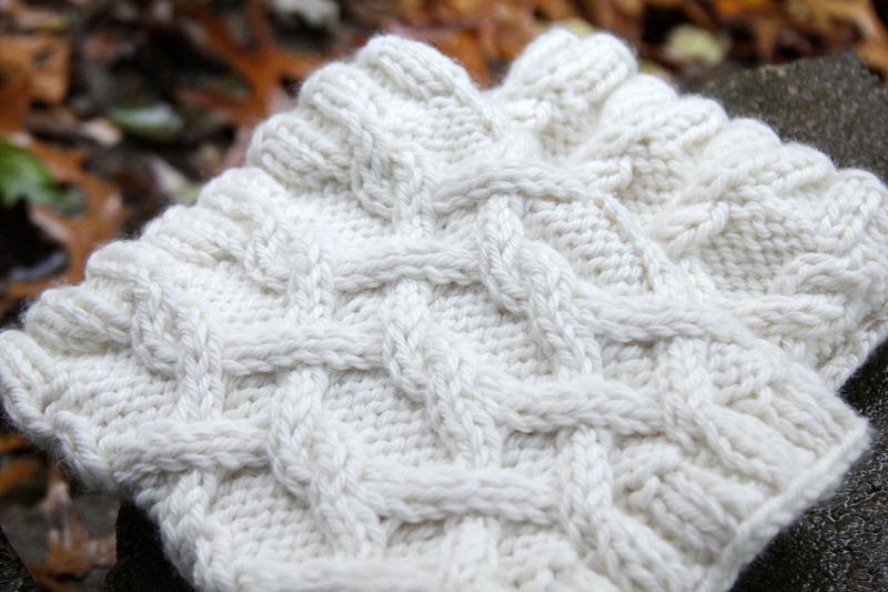 cabled knit boof cuffs