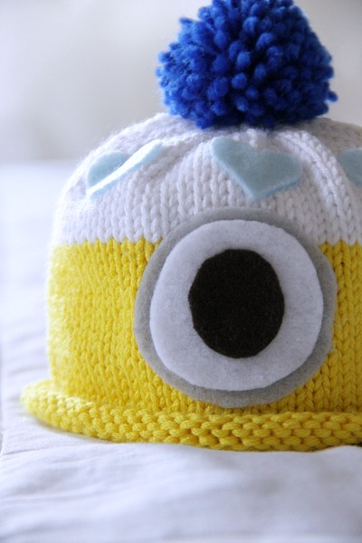 knit minion hat