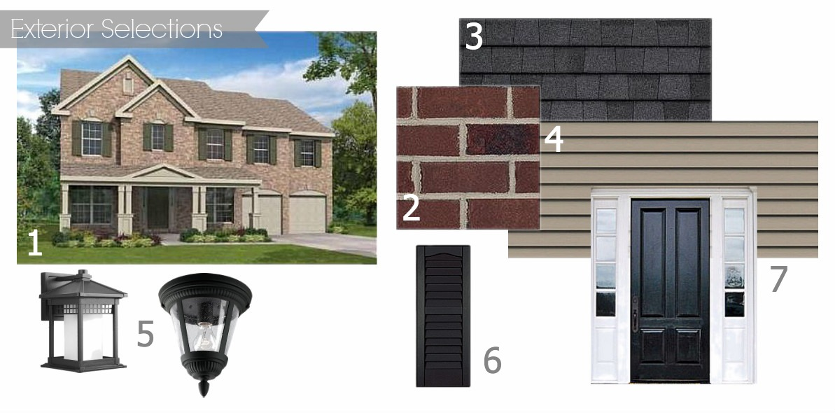 Moodboard: Exterior Selections for our Drees Home
